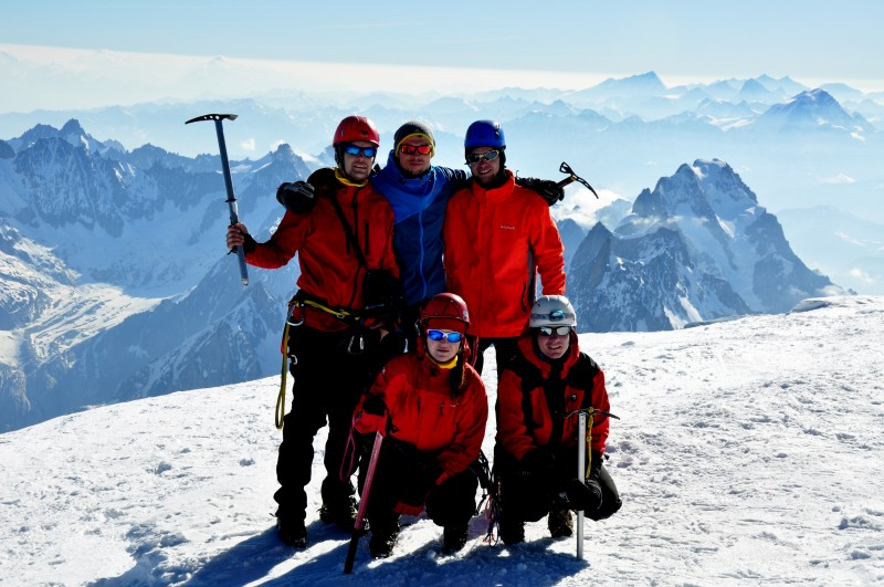Vrchol Mont Blanc 4810 m.n.m.