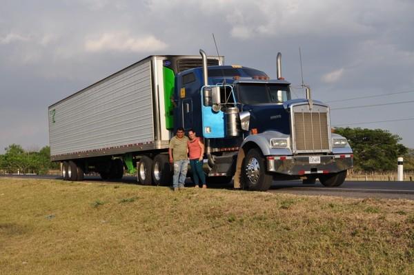 První kamion v Nicaragui