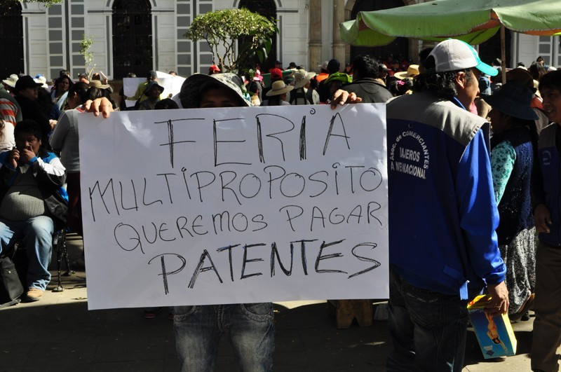 Demonstrace v Sucre
