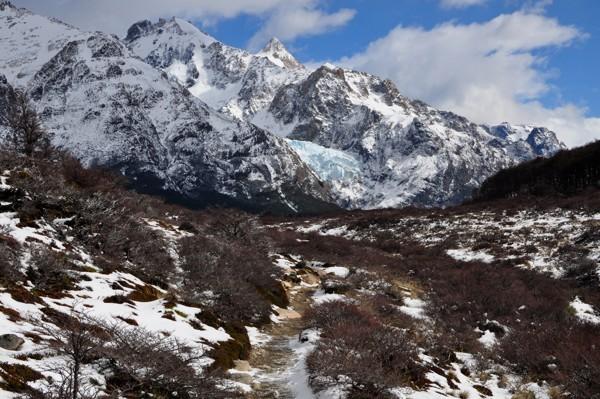 Sendero Fitz Roy a ledovec Piedra Blanca